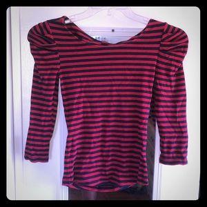 A stripped Betsey Johnson shirt